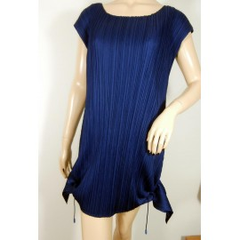 Issey Miyake Pleats Please Cobalt Blue Dress Tunic Top