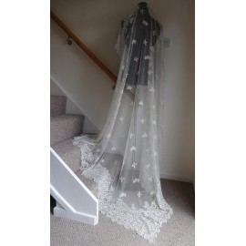 Antique Honiton Lace Very Pretty Bridal Wedding Veil