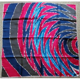 Richard Allan Shocking Pink and Turquoise Vintage Silk Scarf