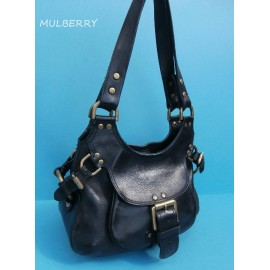 Mulberry Phoebe Black Leather Shoulder Bag and Dust bag