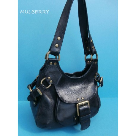 Mulberry Phoebe Black Leather Shoulder Bag