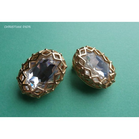 Christian Dior Signed Extravagant Vintage Earrings