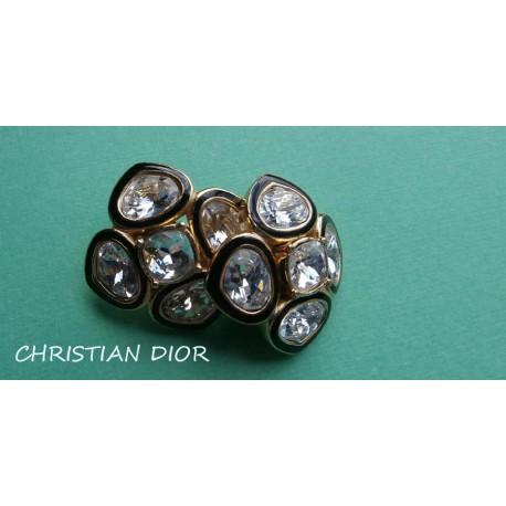 Christian Dior Signed Big Luxurious Vintage Earrings