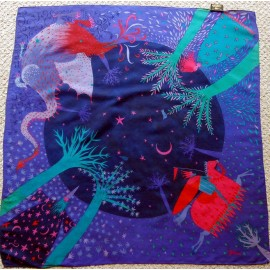 Jill France Enchanted Vintage Silk Scarf