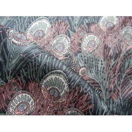 Liberty of London Hera-Peacock Feather Vintage Silk Scarf