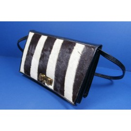 Zebra Skin Smart and Stylish Vintage Handbag