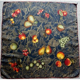 Fabulous Great Graphics and Color Vintage Italian Silk Scarf