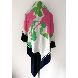 Bold Striking Italian Top Quality Jacquard silk Vintage Scarf