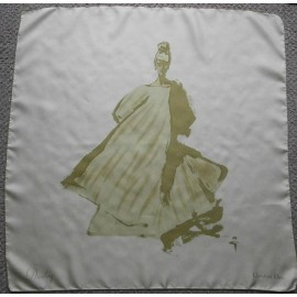 Christian Dior - Diorling Signed by Gruau Vintage Silk Scarf - 1960's