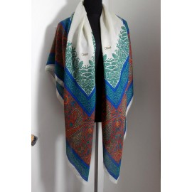 Chloe Bright Classic Design Large Wool True Vintage Shawl