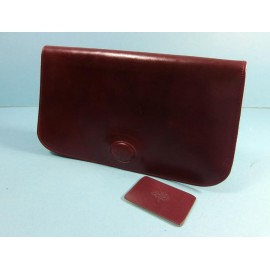 Mulberry Luxury Rich Leather Vintage Clutch Bag with Matching Mirror