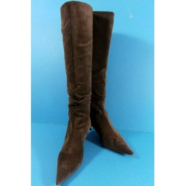 Moschino Italian Suede and Leather Lined Boots