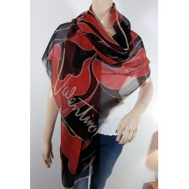 Valentino Huge Silk Shawl Vibrant and Bright Silk Scarf