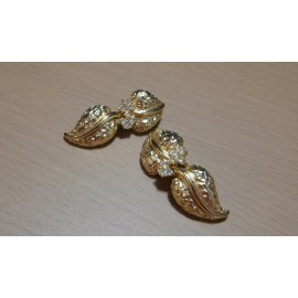 Grosse - Christian Dior Luxury Rhinestones and Rich Gold Tone Vintage Earrings