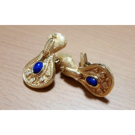 Grosse - Christian Dior Blue Stones and Rhinestones Vintage Earrings