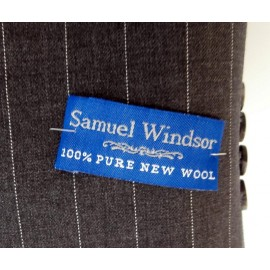 Samuel Windsor Epsom Charcoal Pinstripe New Jacket