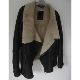 VERY RARE Sheepskin ALL SAINTS Jut Leather Jacket RRP £550