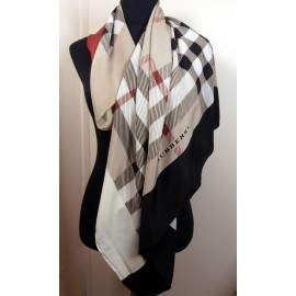 Burberry Silk Scarf In Classic Burberry Colours