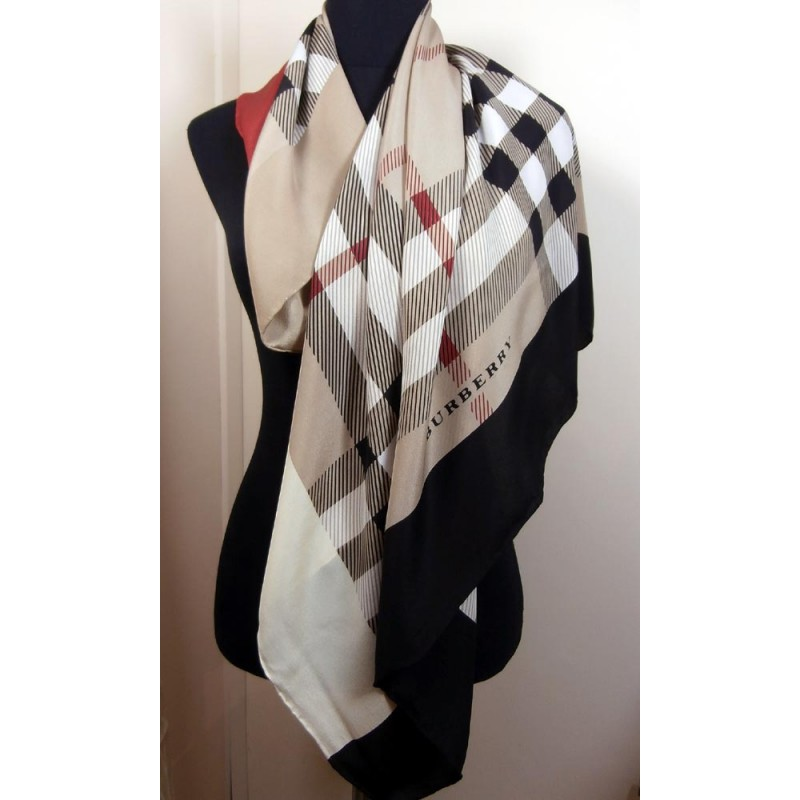 burberry silk scarf outlet g2qx  burberry silk scarf in classic burberry colours