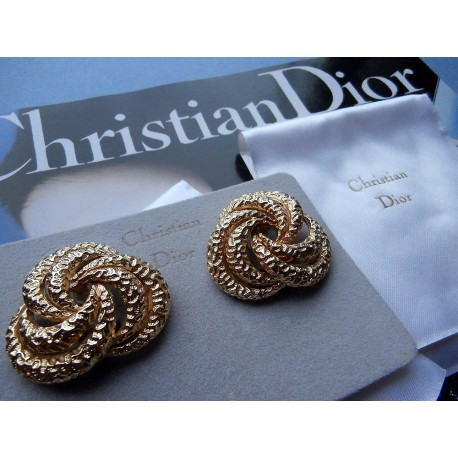 Christian Dior Signed Classic and Stylish Vintage Earrings