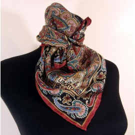 Liberty Richest Colors in Traditional Paisley Vintage Silk Scarf