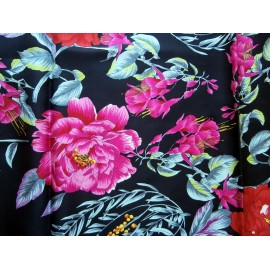 Richard Allan Sumptuous Botanical Theme Vintage Silk Scarf