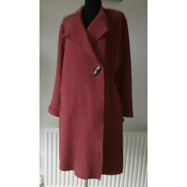 Oska Boiled Wool Coat Cranberry Crush Quirky Jacket
