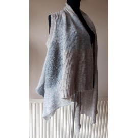 Ischiko - Oska Alpaca and Wool Waistcoat - Sleeveless Cardigan