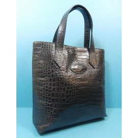 Mulberry Nile Slate Grey Small Tote Vintage Handbag Leather