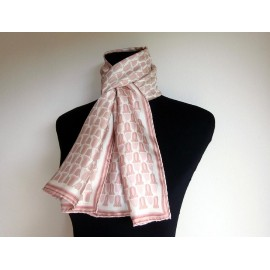 Marc Jacobs Pretty Pinks with Camel and Cream Vintage Silk Scarf