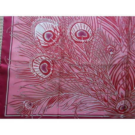 Liberty Peacock Feather Delicious Colorway Large Silk Scarf NWT
