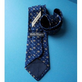 Salvatore Ferragamo Top Quality Silk Tie Unused