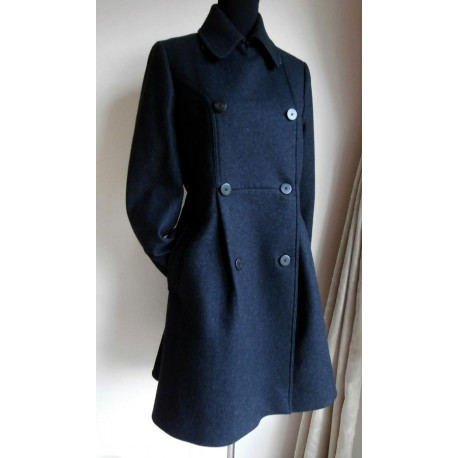 ALLSAINTS Hepburn Italian Wool Stylish Coat