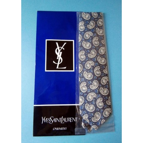 Yves Saint Laurent Quality Silk Tie with Packaging