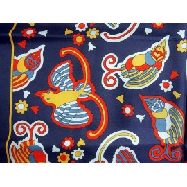 Liberty Bright Bold Very Unusual Birds Vintage Silk Scarf