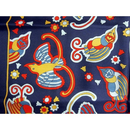 Liberty Bright Bold Unusual Birds Vintage Silk Scarf