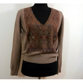 Etro Pure Cashmere Jumper- Sweater Paisley Panels