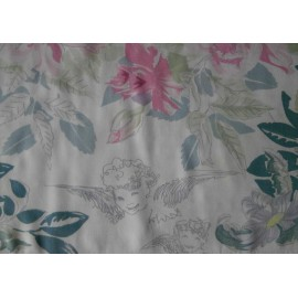 Jacqmar 1940's 50's Cherubs - Putti At Play Among The Flowers Silk Scarf