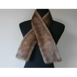 Maxwell Croft Top Quality Real Mink Fur Vintage Collar Scarf Tie