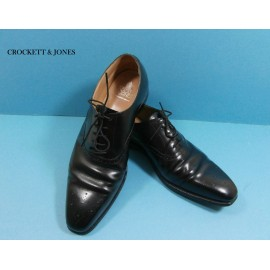 Crockett and Jones Edgware Black Leather Shoes Retail £400