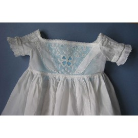 Antique Authentic Ayrshire Embroidered Christening Gown c1840-50 Baby - Infant - Doll