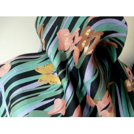 Liberty Collier Campbell Design With Butterflies Vintage Silk Scarf