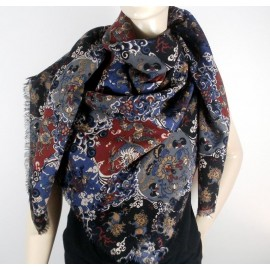 Liberty Dog & Dragon Varuna Wool Vintage Scarf - Shawl
