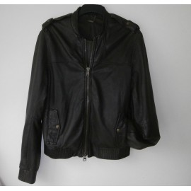 AllSaints Super Soft Leather Rich Coffee Bean colored Jacket