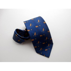 Hermes Silk Tie with Dogs or Playful Pups - Puppies