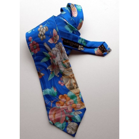 Leonard Paris Quality Jacquard Silk Tie with Butterflies
