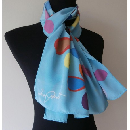 Terry Frost - Sir Terry Frost Large Bright Silk Vintage Scarf