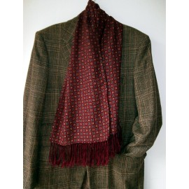 Original Tootal Vintage Scarf Very Wearable - Wine Grey and More