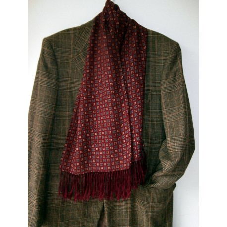 Bit Different TOOTAL Original Vintage Scarf Very Wearable - Wine Grey and More