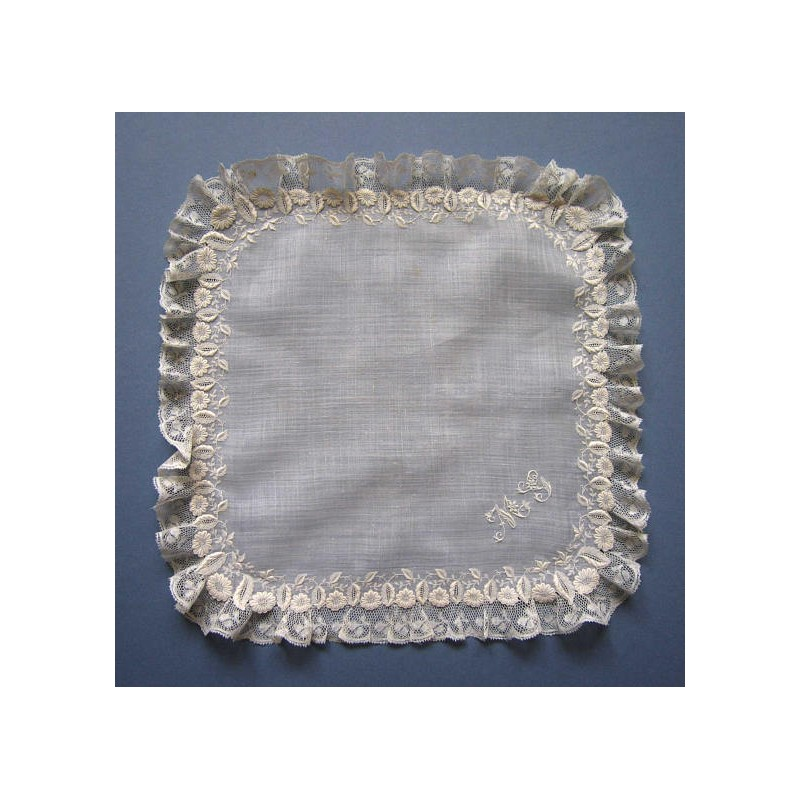 Antique 19thc French Whitework Embroidered Bridal